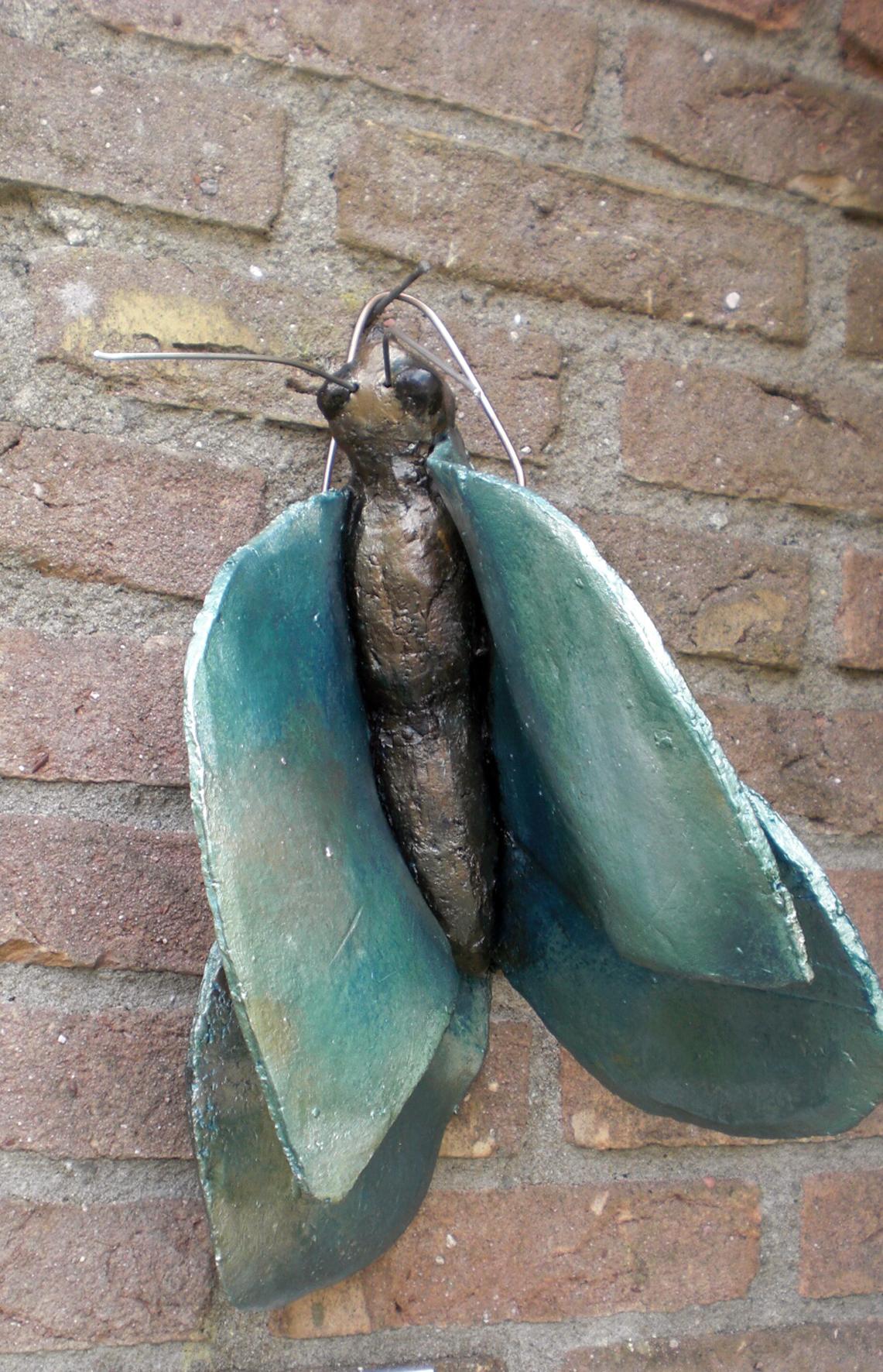 vlinder, acryl geverfd