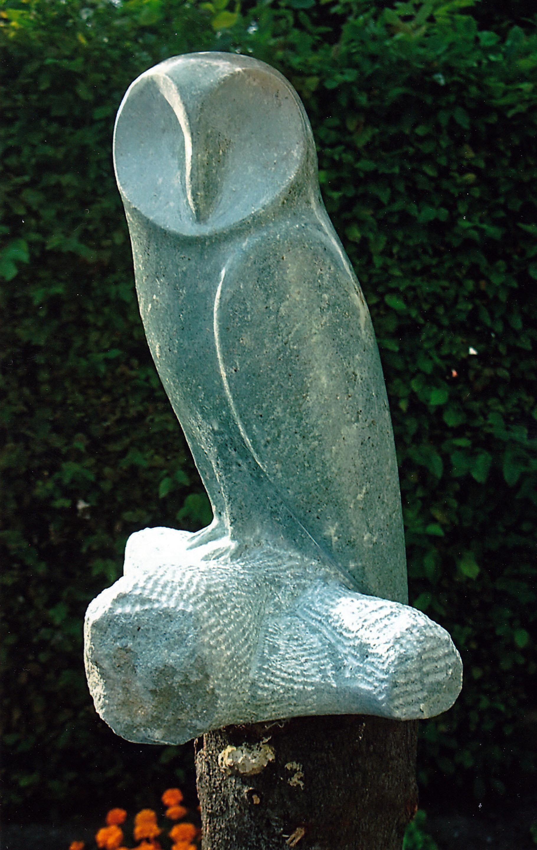 Uil, serpentijn, 30 cm
