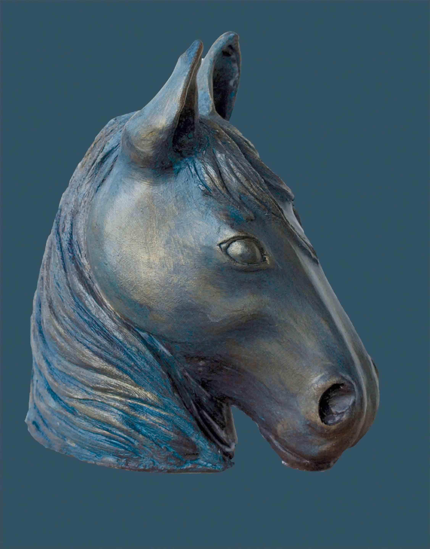paarde hoofd keramiek