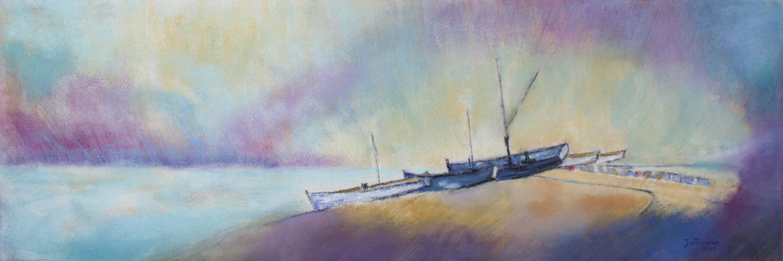 strand, pastel, 40 x 120 cm, 2017