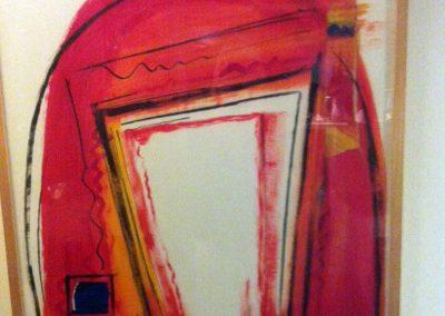 Ria van Kooten, Silhouet, collage op papier, 70 x100 cm