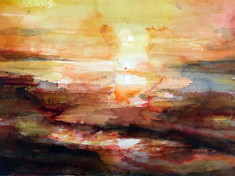 Haiko, een druppel wijn...,aquarel
