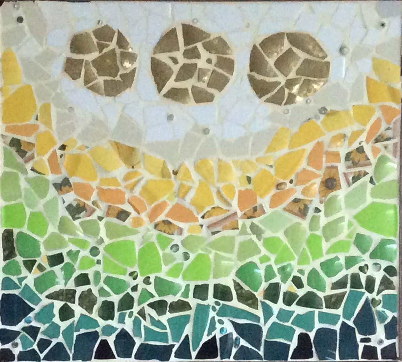 Ode aan Hundertwasser III, drie zonnen