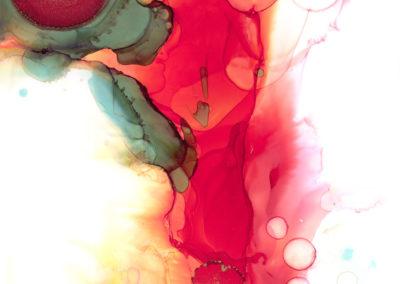 Irem Terlouw - Modiri, Sun explosion (alcohol inkt op synthetische papier 21 x 2 9,7)