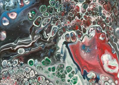 Vera Coenraats, abstract levenskracht, 20 x 20 cm