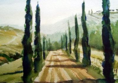 Jaap van der Meer, Toscane, aquarel