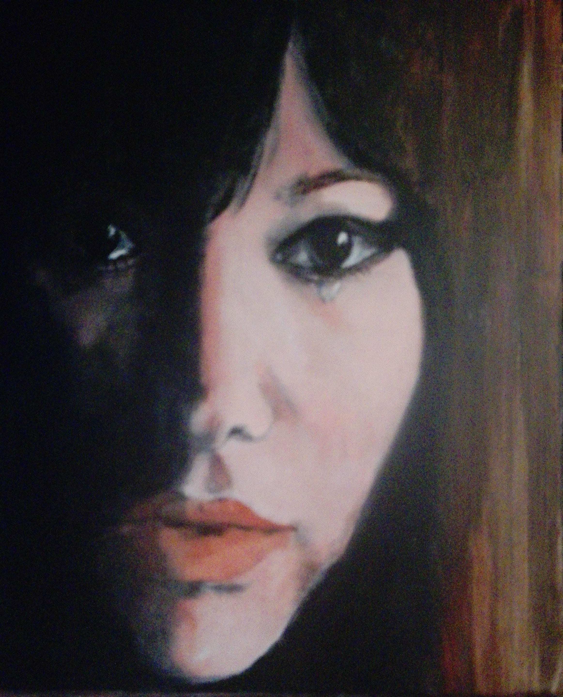 Marijke Dijkman, Astrid Gilberto acryl op doek